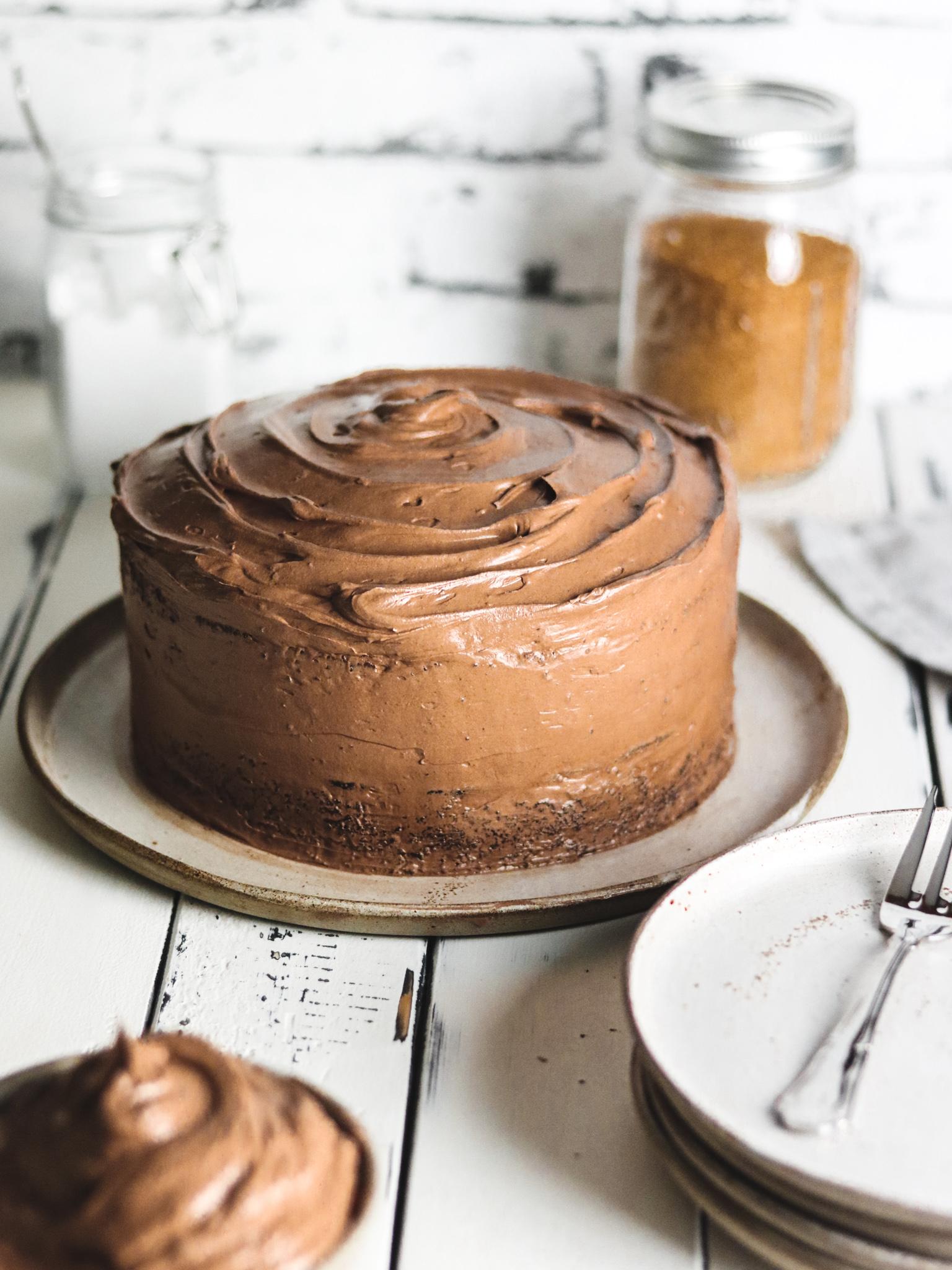 Saftiger Schokoladenkuchen - Front