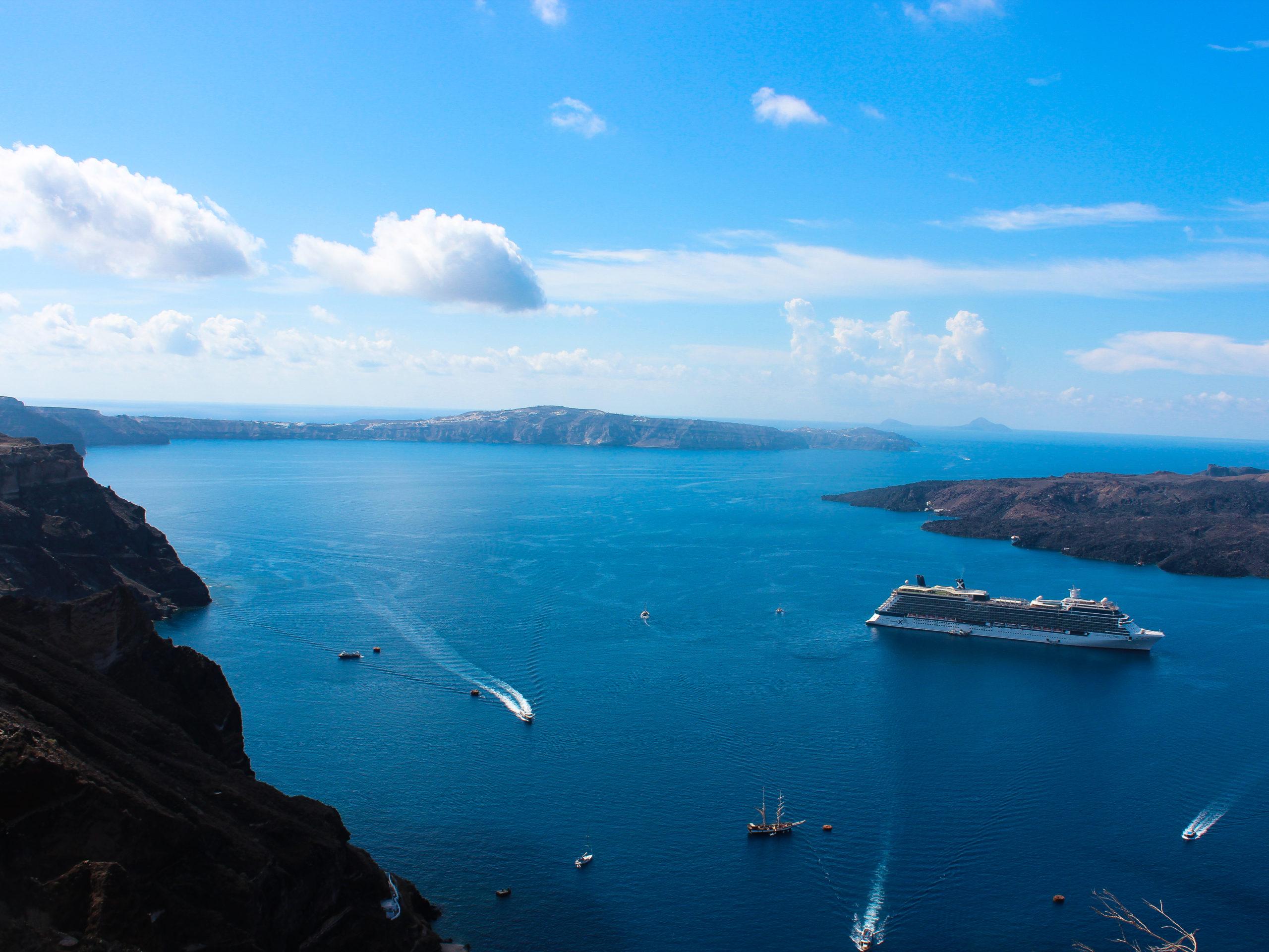 Santorini Oia - Blick auf die Caldera